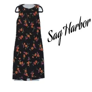 Sag Harbor Black Floral Dress 8